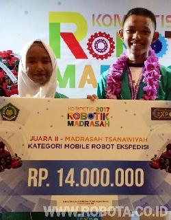 Kontes Robot Madrasah 2017 Juara 2 Kategori Mobile Robot Ekspedisi