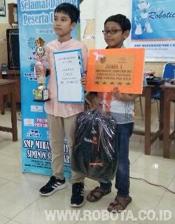 Kontes Robot Muhammadiyah Simpon Juara 1