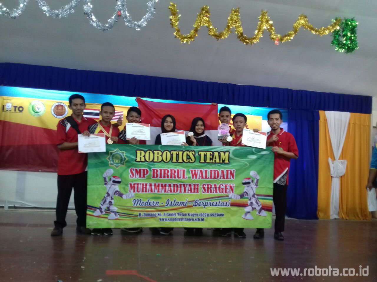 Lomba Robot Internasional Robotic Thailand and Competition 2018