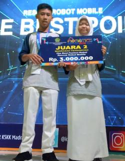 Kompetisi Robotik Madrasah 2018 MTsN 2 Sragen Juara 2