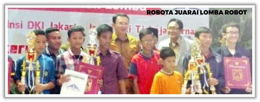 Robota Juarai Lomba Robot