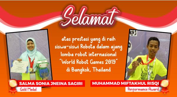 Sekolah Robot Kursus Robotik World Robot Games 2019